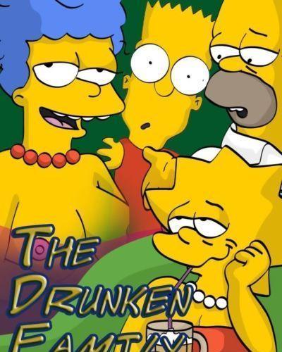 simpsons के नशे में धुत परिवार