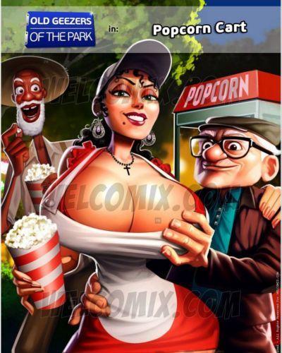 alt Herren der parks popcorn Warenkorb