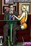 Pub Night Pick Up- illustrated interracial