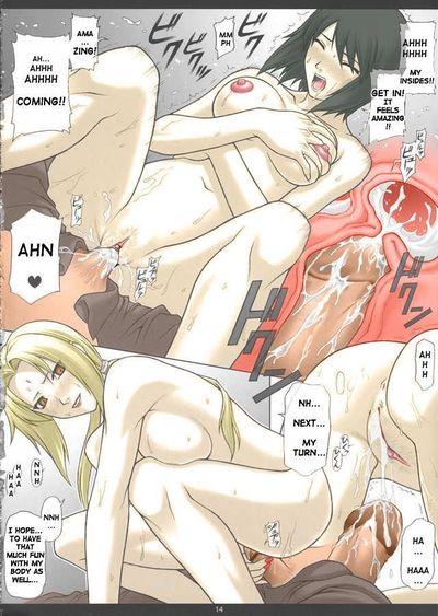 (C66) [PHANTOMCROSS (Miyagi Yasutomo)] NARUPO LEAF5+SAND1 (Naruto)  [Decensored] [Colorized]