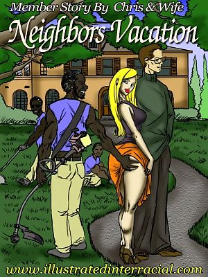 illustrated interracial- Neighbor's Vacation