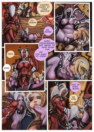 Forkonatable- Blondes Party world of warcraft