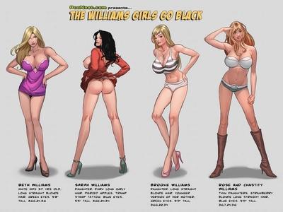 The Williams Girls Go Black