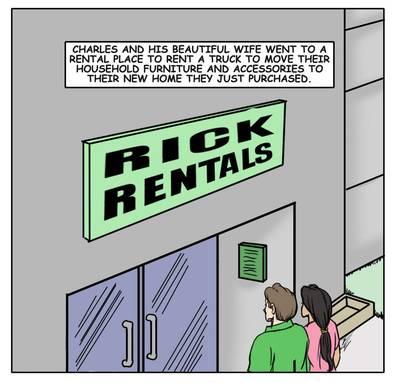 Rent- illustrated interracial