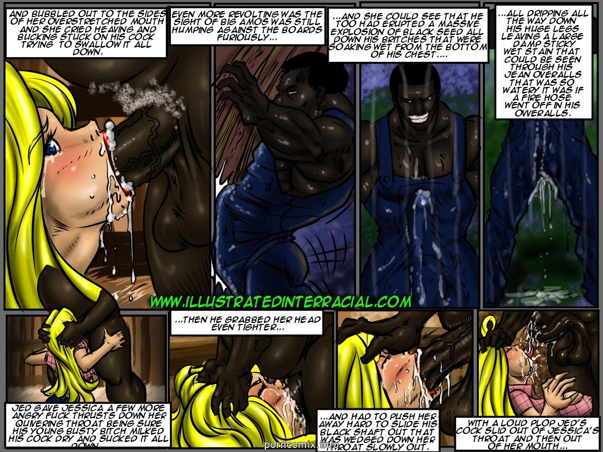 Farm girl- Illustrated interracial