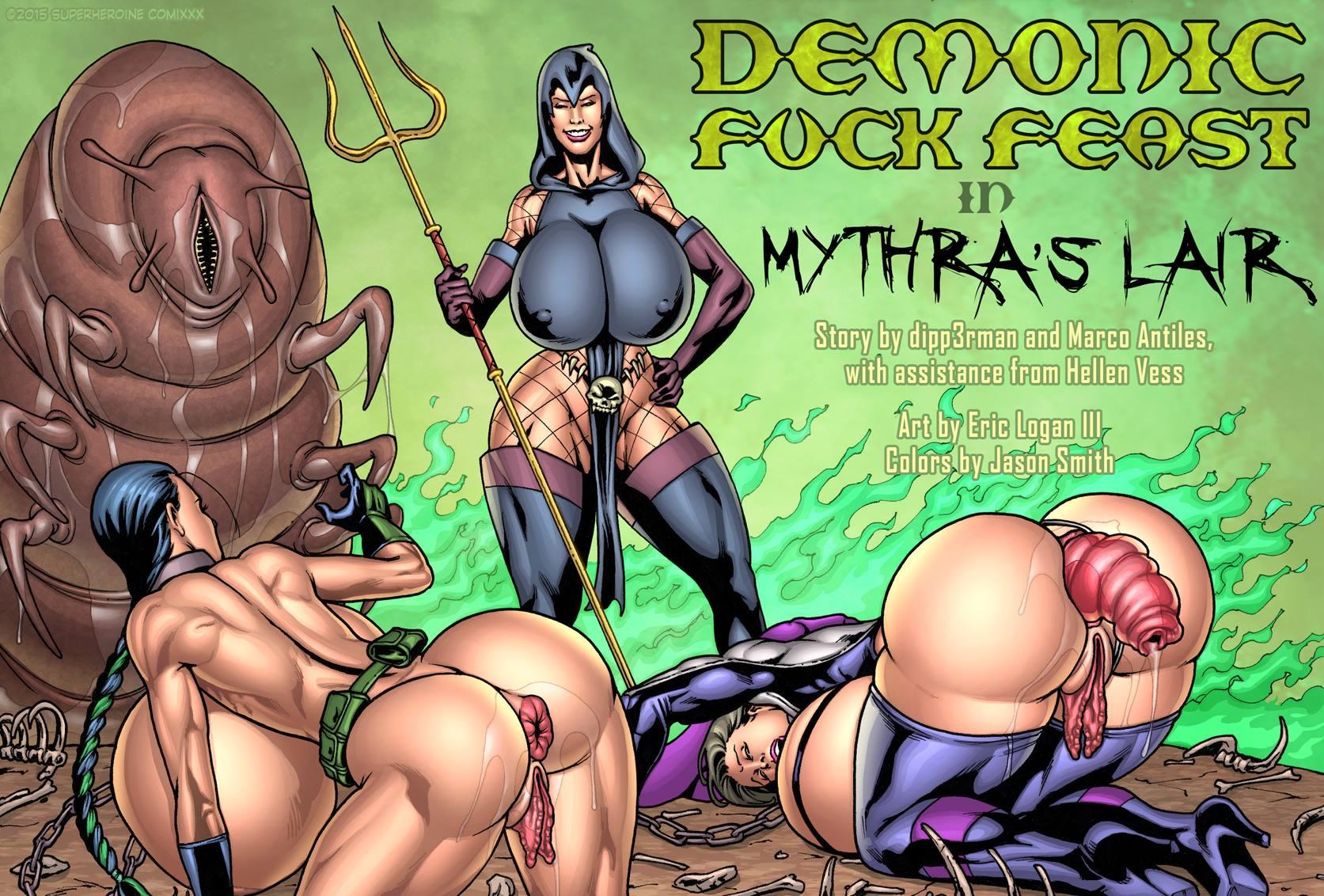 Demonic Fuck-Feast in Mythra\'s Lair