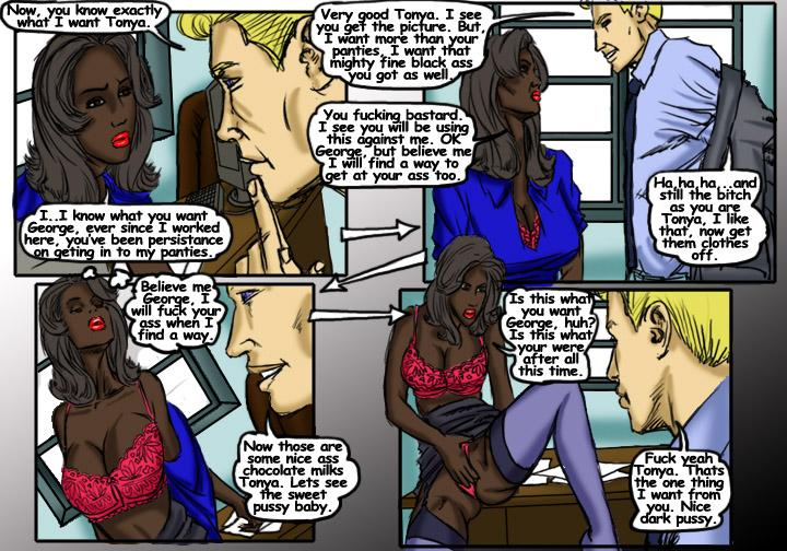 Black Bitch- illustrated interracial