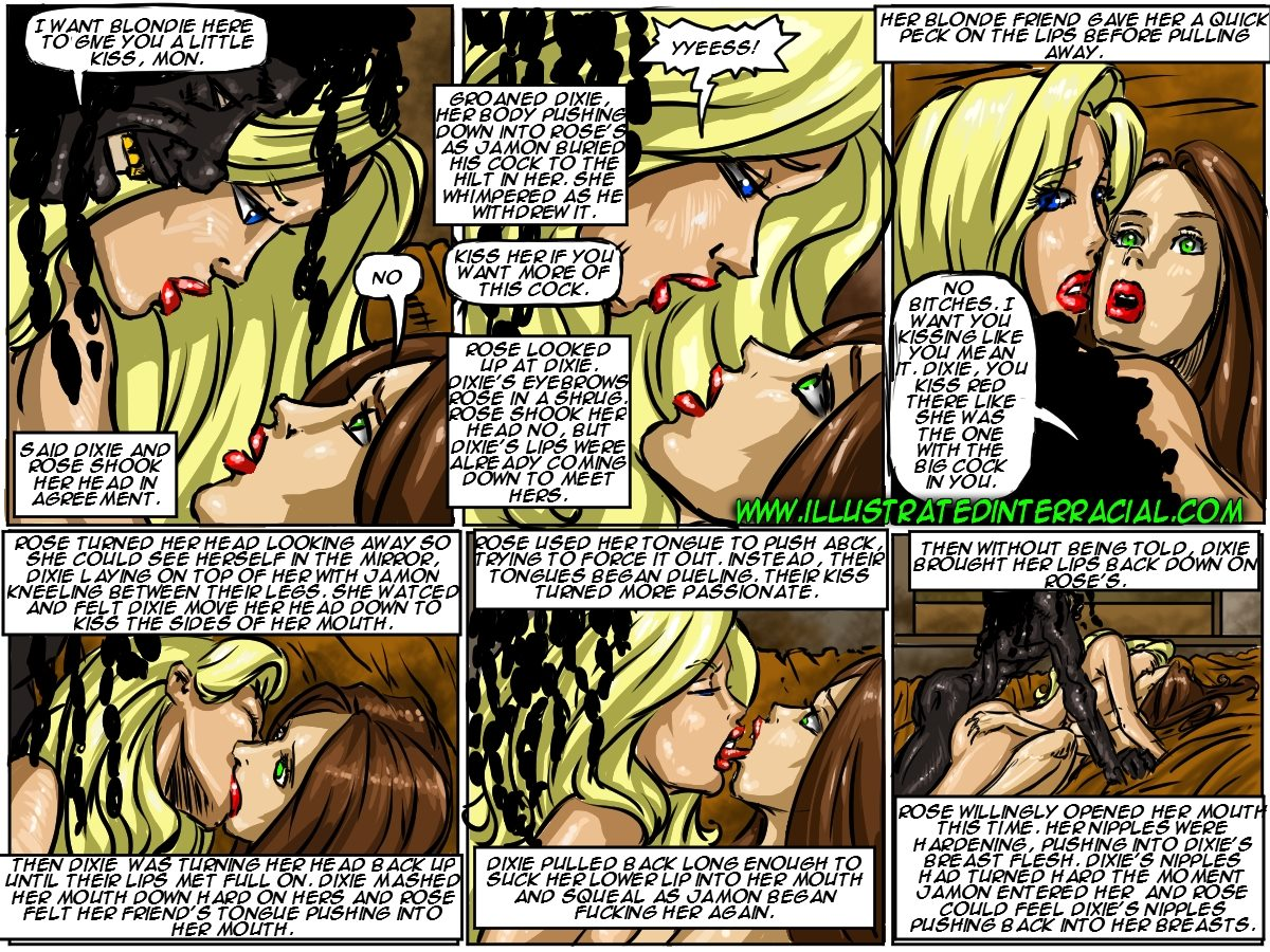 Flag Girls- Illustrated interracial - part 8