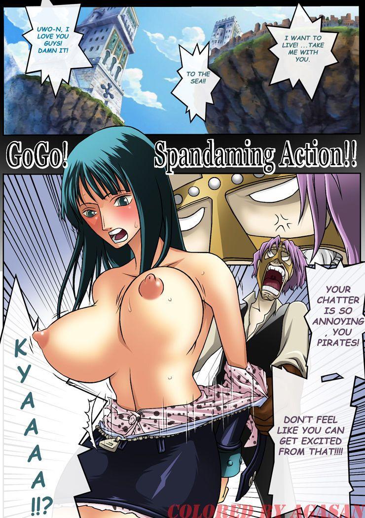 One piece comics porno color Konsoul One Piece Go Go Spandaming Hentai Comics